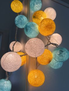 For Chirtsmas And Lets Decorate With Cotton Ball Lights For Home Decoration,wedding  Patio,indoor String Lights,bedroom Fairy Lights,20 Bulbs