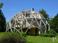 1970s Jean Daladier-designed La Géode experimental property in Yonne, Burgundy, France