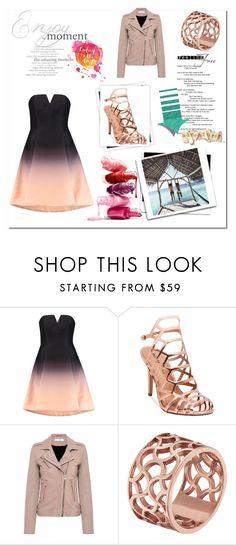 zestaw sukienka ombre by mirela-ce on Polyvore featuring moda, Halston Heritage, IRO, Madden Girl, Tartesia and GALA