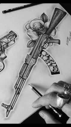Gangsta Tattoos, Chicano Art Tattoos, Badass Tattoos, Body Art Tattoos, Hand Tattoos, Tattoo Design Drawings, Tattoo Sleeve Designs, Tattoo Sketches, Sleeve Tattoos