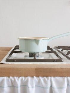 Shop - Steelpannen - Riess lage steelpan l. turquoise 14 cm, 0,75 liter - Riess