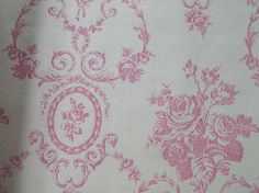 Vintage French Wallpaper Sample Sheet Pink by afarmhouseinfrance, $6.00