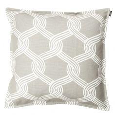 Marimekko's Sulhasmies cushion cover, white - beige. Pattern by Maija Isola.