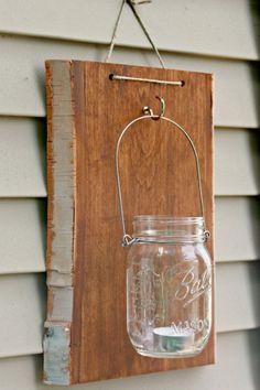 Mason Jar Hanger - use as a vase, utensil holder, or lantern, so easy and under $20! Great home decor DIY.