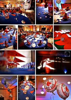 Baseball-theme Bar Mitzvah reception! #barmitzvah #celebrate #personalized #style explore itsmymitzvah.com