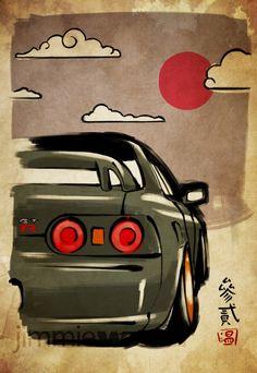 R32 GT-R Artwork