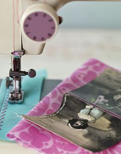 Tip: On a sewing machine, use an all-purpose needle and nylon or buttonhole thread. Select either a straight or zigzag stitch. For a more delicate look, hand-sew a blanket stitch with embroidery floss.   - CountryLiving.com