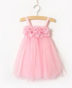 Pink Flower girl dress. girl Tulle dress. by mintdivisionshop, $34.99