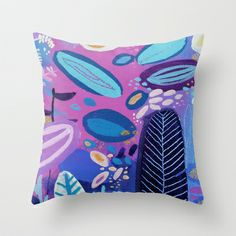 Pond Throw Pillow by Milanesa - $20.00