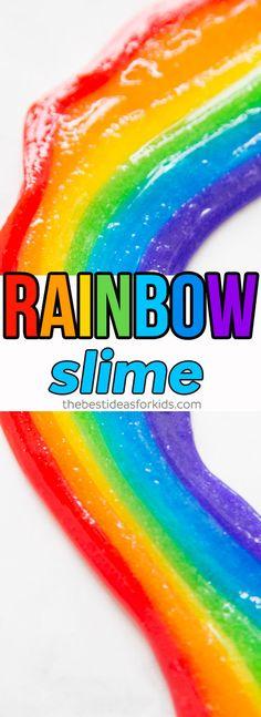 Rainbow Slime Recipe Easy Slime Recipe