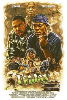 Friday (1995) [1127 × 1683] by Eddie Holly - MoviePosterPorn Friday 1995, Friday Movie, Arte Do Hip Hop, Hip Hop Art, Dope Cartoons, Dope Cartoon Art, John Rick, Old School Movies, The Karate Kid 1984