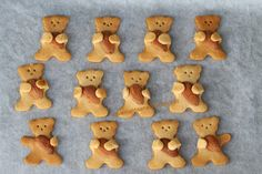 O avental da Ana: Bolachinhas dos Ursinhos Melados - que amor!