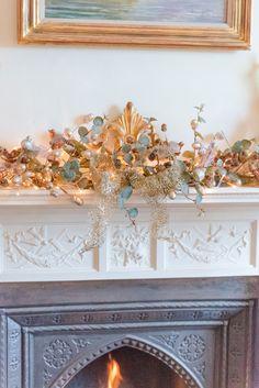 53 best christmas mantelpiece decoration images pine garland xmas rh pinterest com