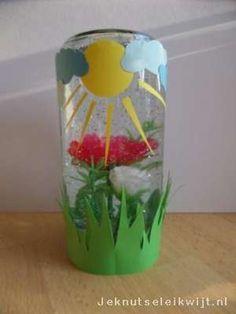 Leuk om zelf te knutselen. Een bloementuintje in een schuddebol. Zo heb je je eigen bloementuintje op je kamer en je hoeft de bloemetjes geen water te geven! Je maakt de sneeuwbol bloementuintje van een leeg potje en wat kunstbloemen.  Maak het potje en de deksel goed school en laat de deksel goed drogen. Op de binnenkant van de deksel plak je de kunstbloemen vast. Gebruik wel sterke lijm, bv een lijmpistool. Je kunt voor de sneeuwbol of schuddebol ook figuurtjes of beestjes van…