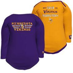 Minnesota Vikings Infant Purple-Gold Territory 2-Pack Long Sleeve Onesie Set