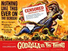 MOVIE FILM GODZILLA VERSUS THING MONSTER HORROR TERROR ART PRINT POSTER BB6619B | eBay