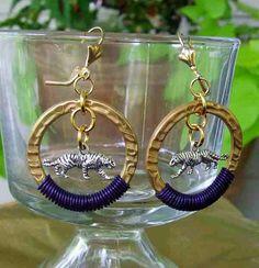 LSU tigers louisiana redbetty earrings