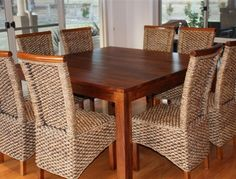 metallic square dining table for 8 people