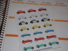 VW Stickers / Bug / Beetle / Car Stickers / Scrapbooking / Life Planner by katy010305 on Etsy