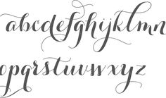 colonial calligraphy alphabet - Google Search