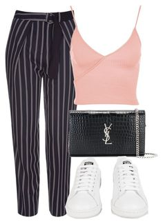 """""""Untitled #1460"""" by morggz ❤ liked on Polyvore featuring Topshop, Yves Saint Laurent and adidas"""