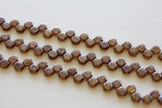 6MM Honeycomb 2 Hole Beads Topaz Brz Picasso by TwinBeadsLLC