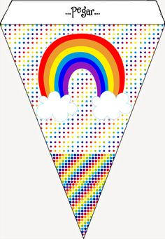 Fiesta Rainbow Dash, Rainbow Theme, Rainbow Baby, Rainbow Parties, Rainbow Birthday Party, Girl Birthday, Horse Party Decorations, St Patrick's Day Crafts, 1st Birthdays