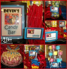 Superhero Birthday Party, Candy Buffet