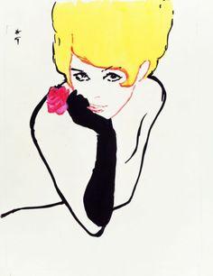 René Gruau - Miss Dior -1960