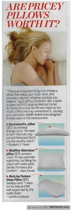 BackJoy Posture Sleep Pillow Featured in Health Magazine Posture Stretches, Health Magazine, Medical Center, Physical Therapy, One Design, Exercises, Sleep, Positivity, Pillows