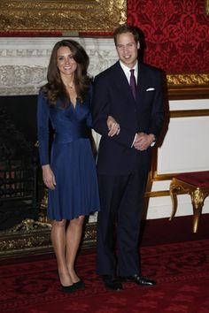 Prince William and Kate Middletons first official engagement appearance