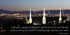 Carol W Porter Photography:Stand Ye In Holy Places Mormon Messages, Mormon Quotes, Lds Quotes, Religious Quotes, Quotable Quotes, Cute Qoutes, What Would Jesus Do, I Love My Hubby, Motivational Thoughts