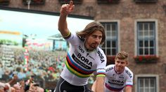 Peter Sagan won a thrilling uphill finish to Stage 3 of the Tour de France. Sagan lost his foot in the closing meters as BMC's Greg Van Avermaet was closing on him, but Van Avermaet couldn't take. Bora Bora, Google News, Cycling, Champion, Sporty, It Is Finished, France, Running, Stage
