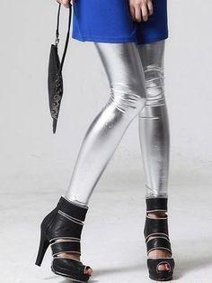 #silver #leather #leggings #fallfashion #doublelw