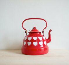 vintage heart teapot
