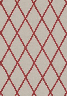 TARASCON TRELLIS APPLIQUE, Red on Natural, AW78710, Collection Palampore from Anna French