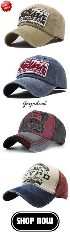26ebf0bdb97044 55% off, Washed Denim Embroidered Letter Pattern Breathable Sunshade  Baseball Cap