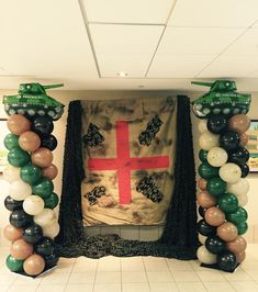 camouflage, army Party and event Balloon decoration