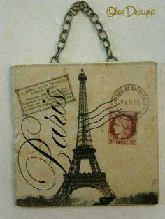 PARISIAN Vintage French Postcard Eiffel Tower