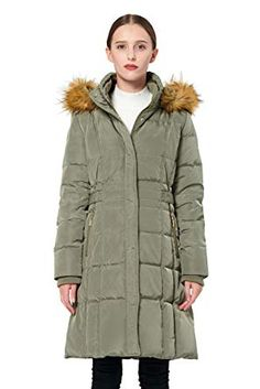 f237e81ffd6 Orolay Women's Puffer Down Coat Winter Jacket with Faux Fur Trim Hood  YRF8020Q Imported Color: