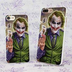 poker joker Design hard White Skin Case Cover for Apple iPhone 7 6 6s Plus SE 5c 5 5s 4 4s