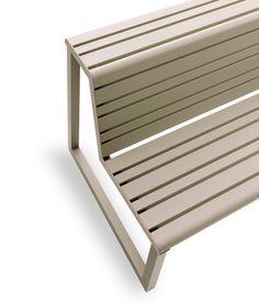 VENTIQUATTRORE.H24 DOUBLE SEAT WITH BACKREST by Diemmebi S.p.A | Garden benches