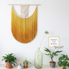 Don't forget Mothersday is right around the corner!  Spoil your mum with a gorgeous Teddy and Wool fiber art piece, now available with 10% Mothersday discount for a limited time only!  You can find the link in my bio ❤️ ————————————————————- #mothersdaygift #macramewallhanging #fiberart #mustardyellow #ombre #art #homedecor #teddyandwool #macrame