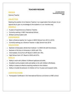 Job Resume, Resume Tips, Resume Examples, Jobs For Teachers, Teachers Aide, Teacher Cover Letter Example, Application Letter Sample, Resume Format, Cv Format