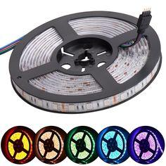 A5 led strip SMD 5050 DC12V   flexible light 60LEDs/m, Ice Blue,Pink,Purple,Golden 5m/lot