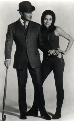 The Avengers. Iconic 60s spy show. John Steed and Mrs. Peel smoldered on screen.
