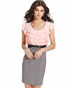 Dresses for Women - Shop the Latest Styles - Macy's Diy Clothes, Clothes For Women, Review Dresses, Junior Dresses, Fashion Branding, I Dress, Dresses Online, Cap Sleeves, Work Wear