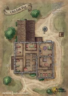 Dungeon Tiles, Dungeon Maps, Fantasy City Map, Fantasy World, City Background, Background Pictures, Pathfinder Maps, Dnd 5e Homebrew, Dnd Monsters