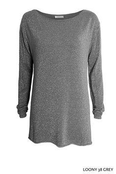 Loony 38 Grey von KD Klaus Dilkrath #kdklausdilkrath #loony #grey #silver #lurex #pullover #sweater #shirt #party #fashion #outfit #kdklausdilkrath #kd #dilkrath #kd12 #outfit