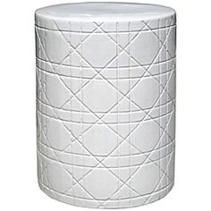 round white crisscross ceramic garden stool by insten